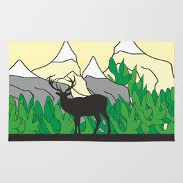 Mountain Deer #society6 #decor #buyart #artprint Rug