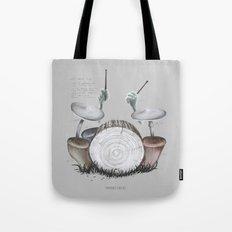 Mushroom drums Tote Bag