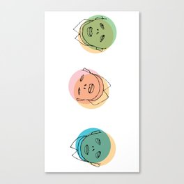 3 heads Canvas Print