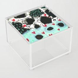 Falling Hearts Acrylic Box