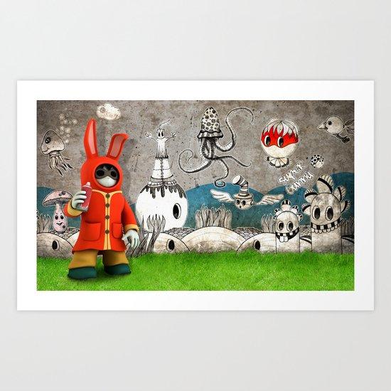 Super Bunny Art Print