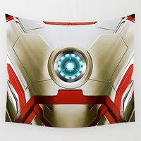 iron man Wall Tapestries featuring IRON MAN Iron Man by Veylow