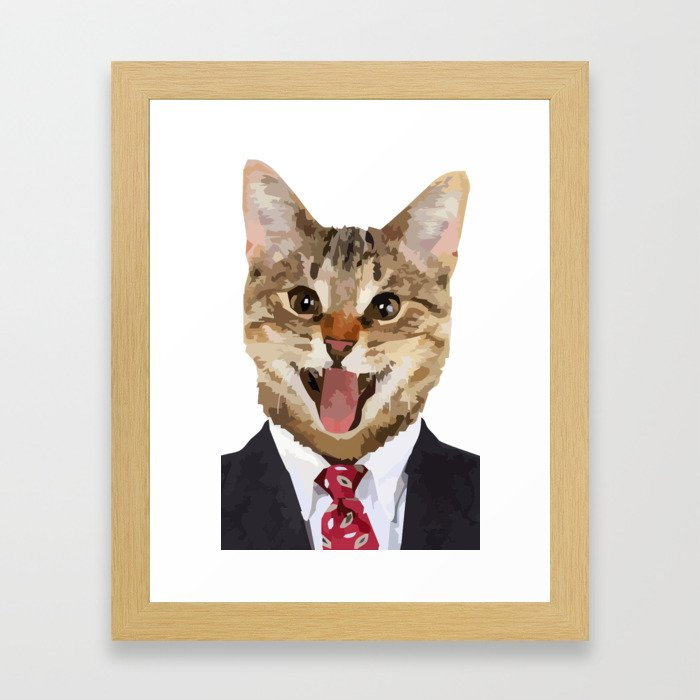 I LOVE CATS Framed Art Print