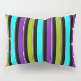 VERTICAL Retro Candy Stripe Pillow Sham