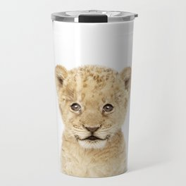 Baby Lion Cub Portrait Travel Mug