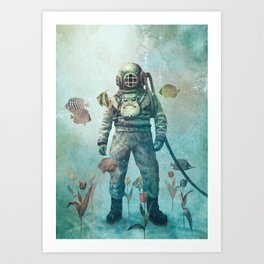 Deep Sea Garden  Art Print