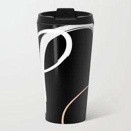 Tricolour Abstract Metal Travel Mug