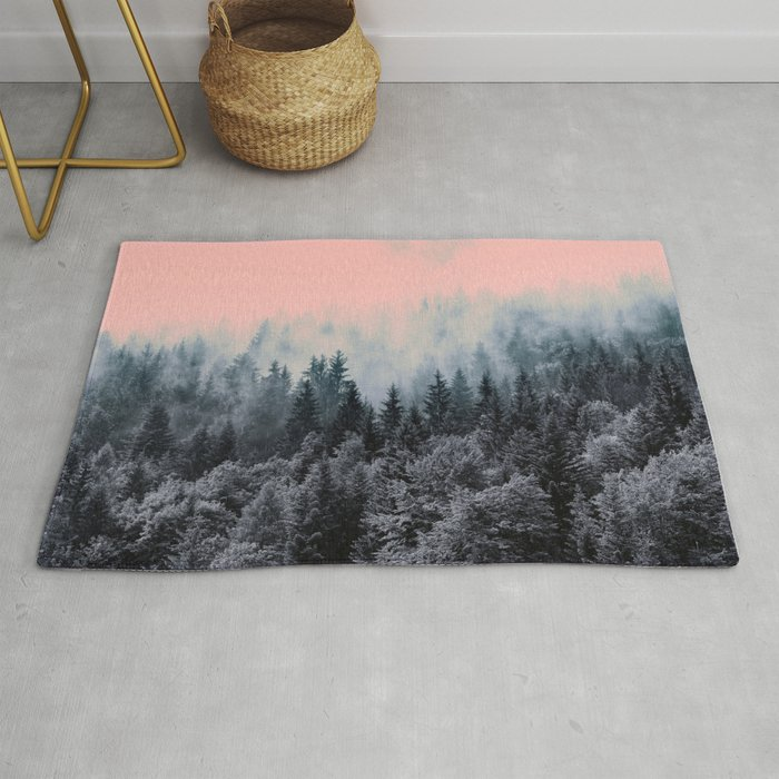 Forest In Gray And Pink Rug By Mmartabc