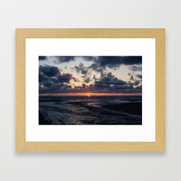Oregon Ocean Sunset Framed Art Print