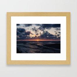 Oregon Ocean Sunset Framed Art Print