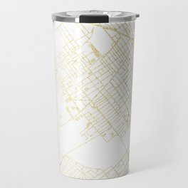 Wilkes-Barre Gold and White Map Travel Mug