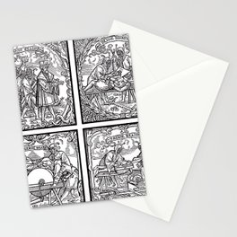 Depositing the Horns - Initiation Ritual Stationery Cards