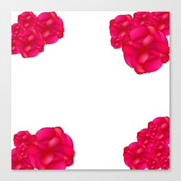 Frame of roses Canvas Print