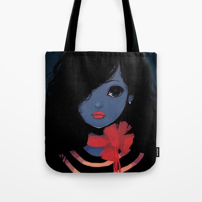 Blue. Tote Bag