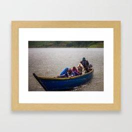 Downpour - Lake Bunyonyi, Uganda Framed Art Print