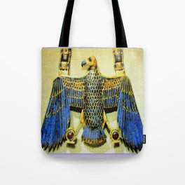 Gold Necklace with Vulture Pendant Tote Bag