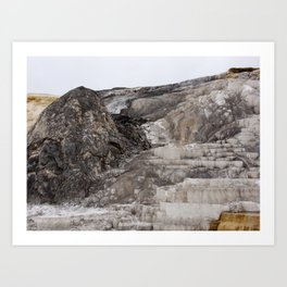 The Steps at Yellowstone Art Print