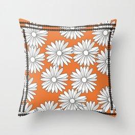 Autumn Daisies Throw Pillow