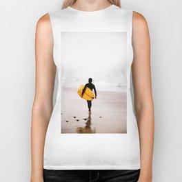 Yellow surf surfer Biker Tank