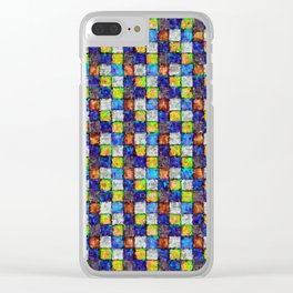 Multicolored Patchwork Clear iPhone Case