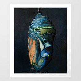 monarch butterfly chrysalis Art Print