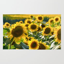 Sunflower 21 #sunflowers Rug