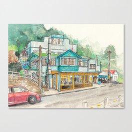 The Beachside Cafe Canvas Print