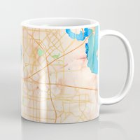 dallas Mugs featuring Dallas, Texas by Emily Day