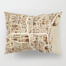 Milwaukee Wisconsin City Map Pillow Sham