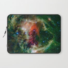Soul Nebula located in Cassiopeia Deep Space Telescopic Photograph Laptop Sleeve