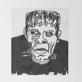 Frankenstein's Monster Throw Blanket