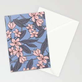Sakura Branch Pattern - Rose Quartz + Serenity Stationery Cards