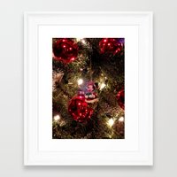 minnie mouse Framed Art Prints featuring Minnie Mouse Ornament by Lindsey Hart Photography