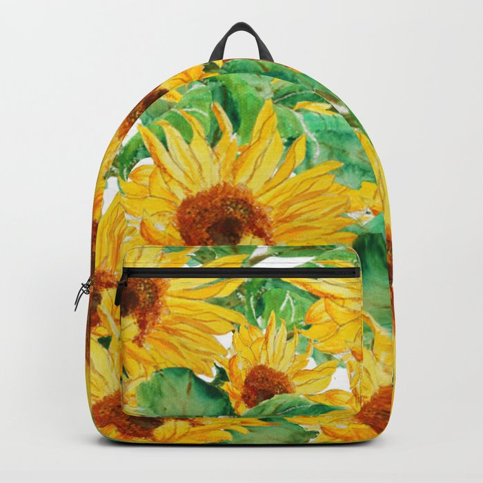 sunflower pattern Backpack