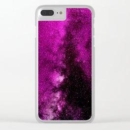 Fuchsia Galaxy Clear iPhone Case