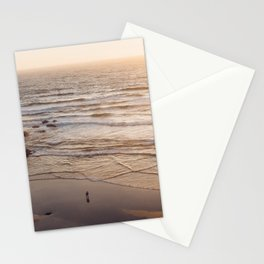 lovers at sunset Stationery Cards