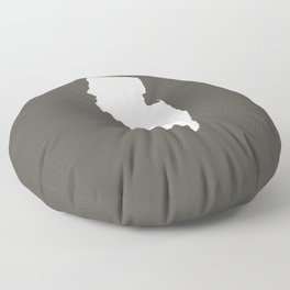 New Jersey is Home - White on Charcoal Floor Pillow