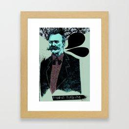 Friedrich Nietzsche: The Man, The Myth, the Moustache Framed Art Print