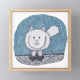 The Snow Floof Framed Mini Art Print