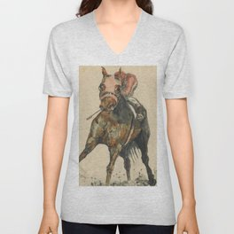 Racehorse Watercolor Unisex V-Neck