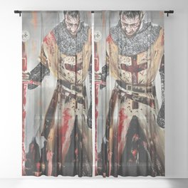The Knights Templar Sheer Curtain