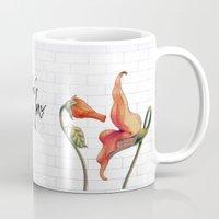 floyd Mugs featuring Pink Floyd The Wall by DreamBeyondArt