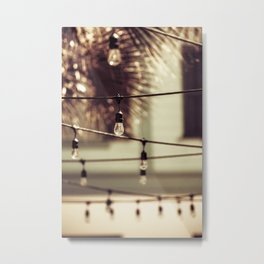 Lights over Seaside Metal Print