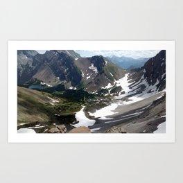 Buller Ridge Art Print