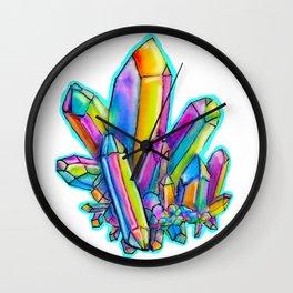 Colorful Crystal Wall Clock