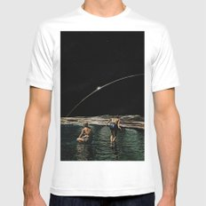 hold your breath Mens Fitted Tee White MEDIUM
