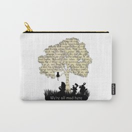 We're All Mad Here II - Alice In Wonderland Silhouette Art Carry-All Pouch