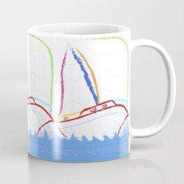 Happeness is a Starboard Tack. Coffee Mug