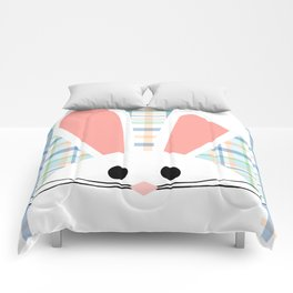 Blue Plaid Easter Bunny Comforters