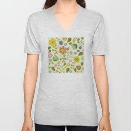 Petty Floral Pattern 2 Unisex V-Neck